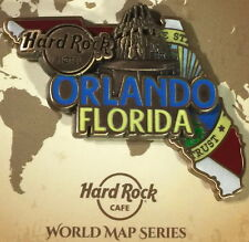 Hard Rock Hotel ORLANDO 2017 3-D WORLD MAP Series PIN New with Card LE 200 Made!