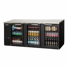 """Everest Ebb90G 89"""" Three Section Back Bar Cooler with Glass Door, 32.0 cu. ft."""