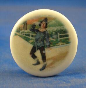 Birchcroft China Button -  Wizard of Oz Scarecrow - One Inch Size ( 25 mm )