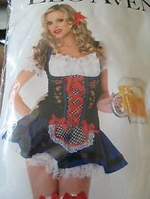 Sexy Leg Avenue SZ XS 0 2 Flirty Fraulein Beer Server Halloween costume Dress