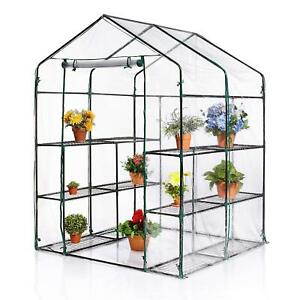 Walk In Greenhouse Garden Plant Grow House Shelving Clear Outdoor 24HR DELIVERY