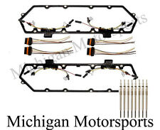 94-97 7.3L Powerstroke Diesel Valve Cover Gasket Kit and 8 Glow Plugs Ford Truck