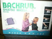 NEW MASSAGER IN BOX OPEN SHIATSU MASSAGER BACKRUB KS 8100 PROFESSIONAL