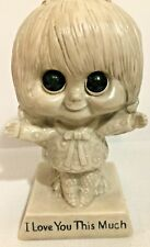 Vintage 1970 R & W Berries Cos Figurine Russ Berrie Wallace I Love You This Much