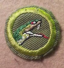 BSA REPTILE STUDY Merit Badge Type E (47-60)CRIMPED NARROW BORDER   A00444