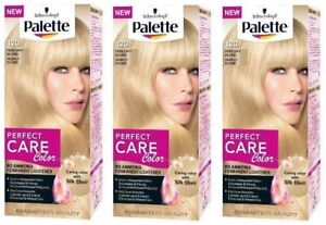 Schwarzkopf Palette Pearly Blonde 120 Perfect Care Colour With Silk Elixir X3