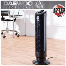 "Daewoo Black 30"" Portable Oscillating Air Cooling Standing Tower Fan with Timer"
