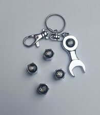4pc wheel tire valve caps with key chain audi