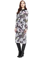 Autograph Marks & Spencer Lilly Print Shirt Dress + Detachable Collar UK 10 BNWT