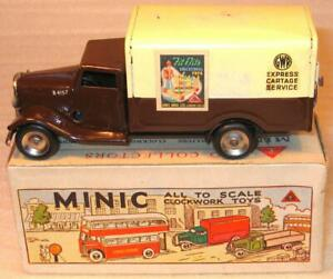 "TRI-ANG MINIC CLOCKWORK RARE No 79M ""GWR"" VAN.1950s. EXCELLENT CONDITION UNBOX"