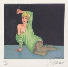Ex-libris Offset Jessica Blandy Assise robe verte avec fume-cigarette