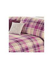 Shabby Chic George Home Eden Purple Check SINGLE Duvet Cover + 1 Pillowcase