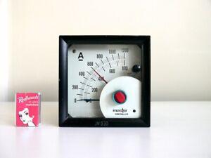 ∎ Vintage Master Controller industrial DC ammeter panel meter gauge 0-1200A