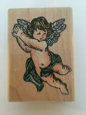 Stampendous Fun Stamps Look Right Angel Religious Card Crafting Rubber Stamp