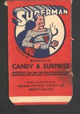 1940 R146 Leader Novelty Superman The Coupon Card with Tab