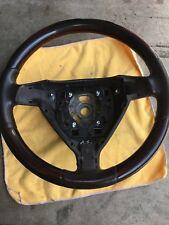 Porsche 911 997 987 Makassar / Cocoa Brown Leather Steering Wheel NO Trim/Airbag