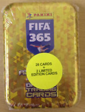 FIFA 365 ADRENALYN XL 2018 TRADING CARD COLLECTORS TIN 2 LIMITED EDITION CARDS