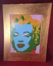 Andy WARHOL Marilyn Monroe Art Print Repro w 11 x 14 Gold Hand Painted New Mat