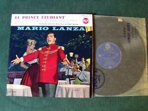 MARIO LANZA : Le prince étudiant (B.O. film)  LP French RCA 530.254 Paul Baron