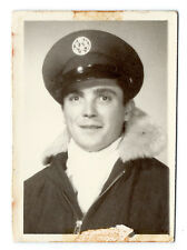 WWII U.S. Army pilot in fur-lined jacket or parka, c. 1944; original photo