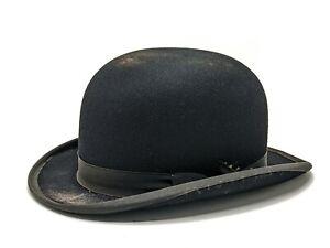 Antique Vintage Lock And Co Bowler Hat