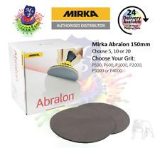 "Mirka Abralon 6"" 150mm (5, 10 or 20) P500 to P4000 - Choose Grit + Quantity"