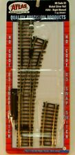 """NEW HO Atlas 543 9"""" Manual Right Hand Turnout Code 83 Snap Track"""