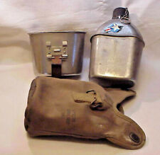 WWII Military Army Canteen & Cup Appleton Awning Cover Complete