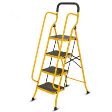4 Step Ladder Protable Folding Non Slip Safety Tread Heavy Duty Industrial Home