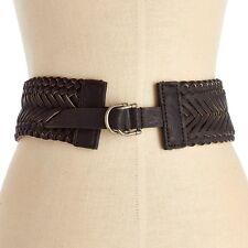 Nautica Women's Braided Stretch Belt Black Size Medium New