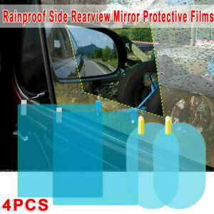 4*Car Mirror Clear Film Anti Fog Rear View Window Protective Waterproof Sticker