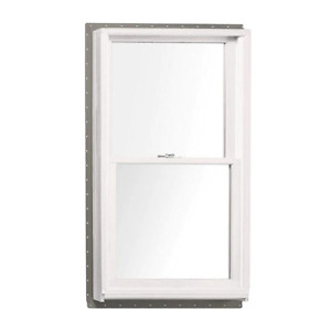 33.625 in. x 40.875 in. 400 Series Double Hung White Interior Wood Windows