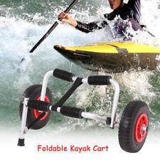 Removable Wheels Boat Kayak Carrier Canoe Dolly Trolley Transport Trailer Cart