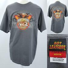 Hot Leathers Mens Faded Flag Skull T-Shirt Black, XX-Large