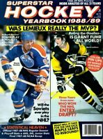1989-90 Superstar Hockey Yearbook magazine, Mario Lemieux, Wayne Gretzky ~ VG