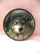 "Vintage ""The Wolf"" in the Faces of the Wild Collector's Plate Bradford Exchange"