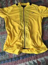 Performance Cycling Jersey Shirt Full Zip Yellow Black XL