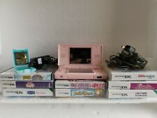 Nintendo DS Lite Pink Console bundle With 8 Games, 2 chargers, R4 Card