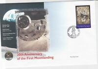 solomon islands 30th anniversary moon landing stamps cover 1999 ref 19472