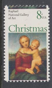 US Sc 1507 MNH. 1973 8c Madonna & Child Christmas issue, horizontal MISPERF