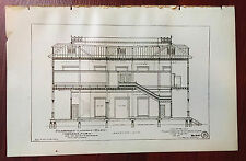 1900 Architectural Sketch Diagram Passenger Landings Building Havana Cuba