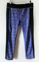 Sweaty Betty Gym Leggings Black Purple Multi Size M Perfect Condition