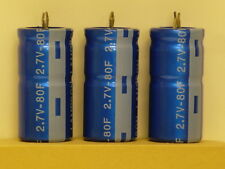 80F 2.7V Super capacitor x 3 pcs quick charge discharge snap-in terminals