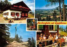Waldbach Arzberghuette mit Gipfelkreuz Cabin Cross