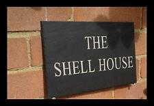 Natural Slate House Door Sign 25cm x 18cm Any Name Any Number EAST FAST ORDERING