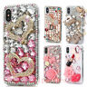 Handmade Luxury Bling Diamond Rhinestone Crystal Jewelled Back Phone Case Cover