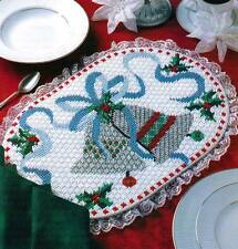 SILVER BELLS PLACE MAT CHRISTMAS PLASTIC CANVAS PATTERN INSTRUCTIONS