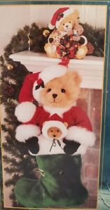 Traditions Christmas Stocking Holder with Plush Bear Santa Stocking NEW