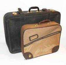 2 alte Reisekoffer Koffer Kunstleder PVC Vintage Deko 60er Jahre !