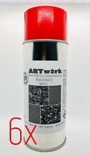Sixpack Basislack WEIß 400ml Spraydose auch für WTD Wassertransferdruck